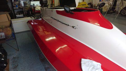 レース艇船体補修塗装
