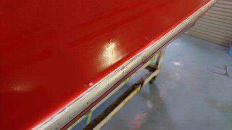 レース艇船体補修塗装NO.2